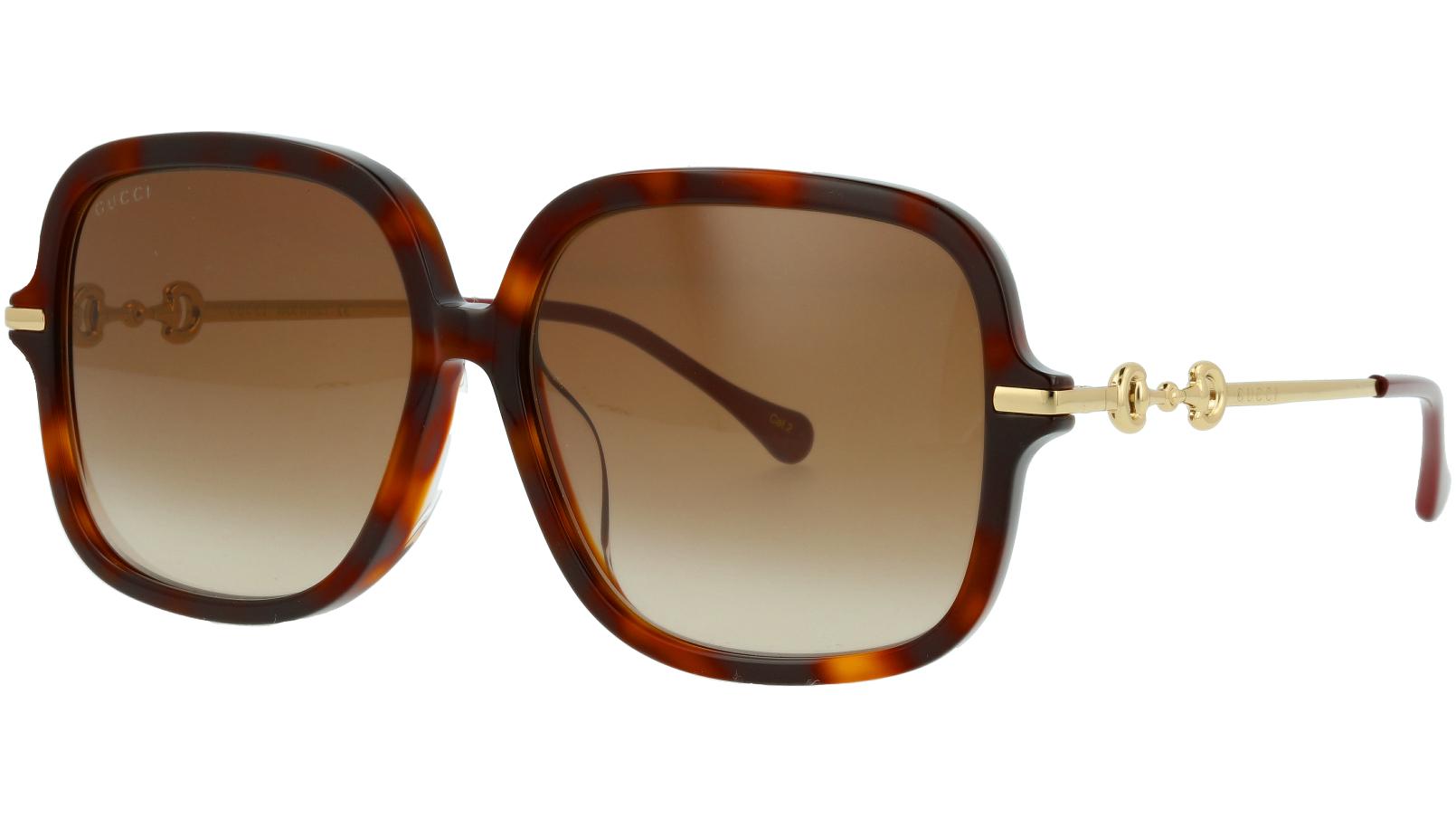 Gucci GG0884SA 002 58 Havana Square Sunglasses