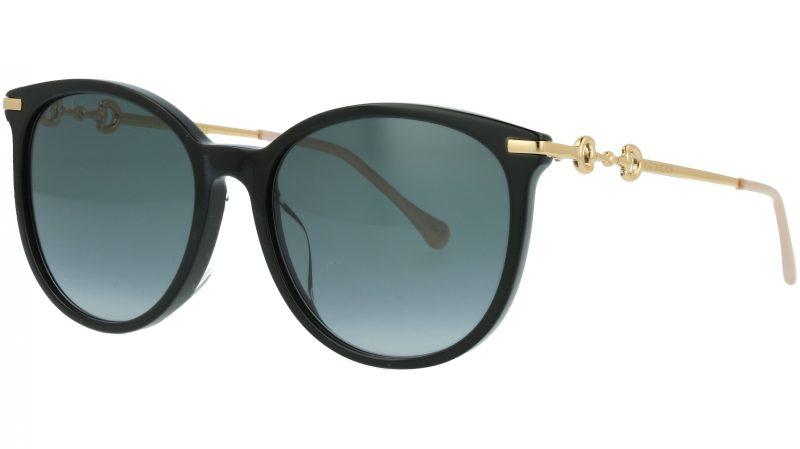 Gucci GG0885SA 001 56 Black Cat-Eye Sunglasses