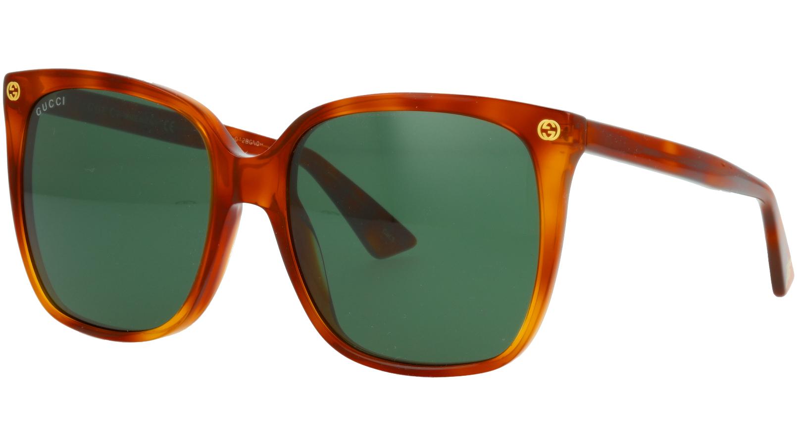 GUCCI GG0022S 003 57 AVANA Sunglasses