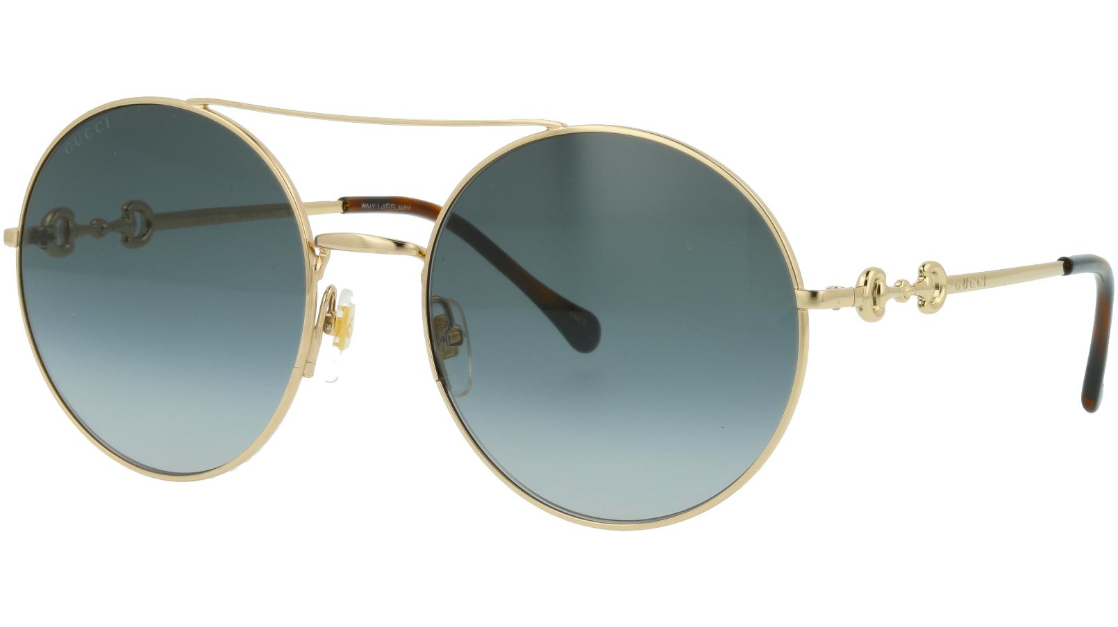 Gucci GG0878S 001 59 Gold Round Sunglasses