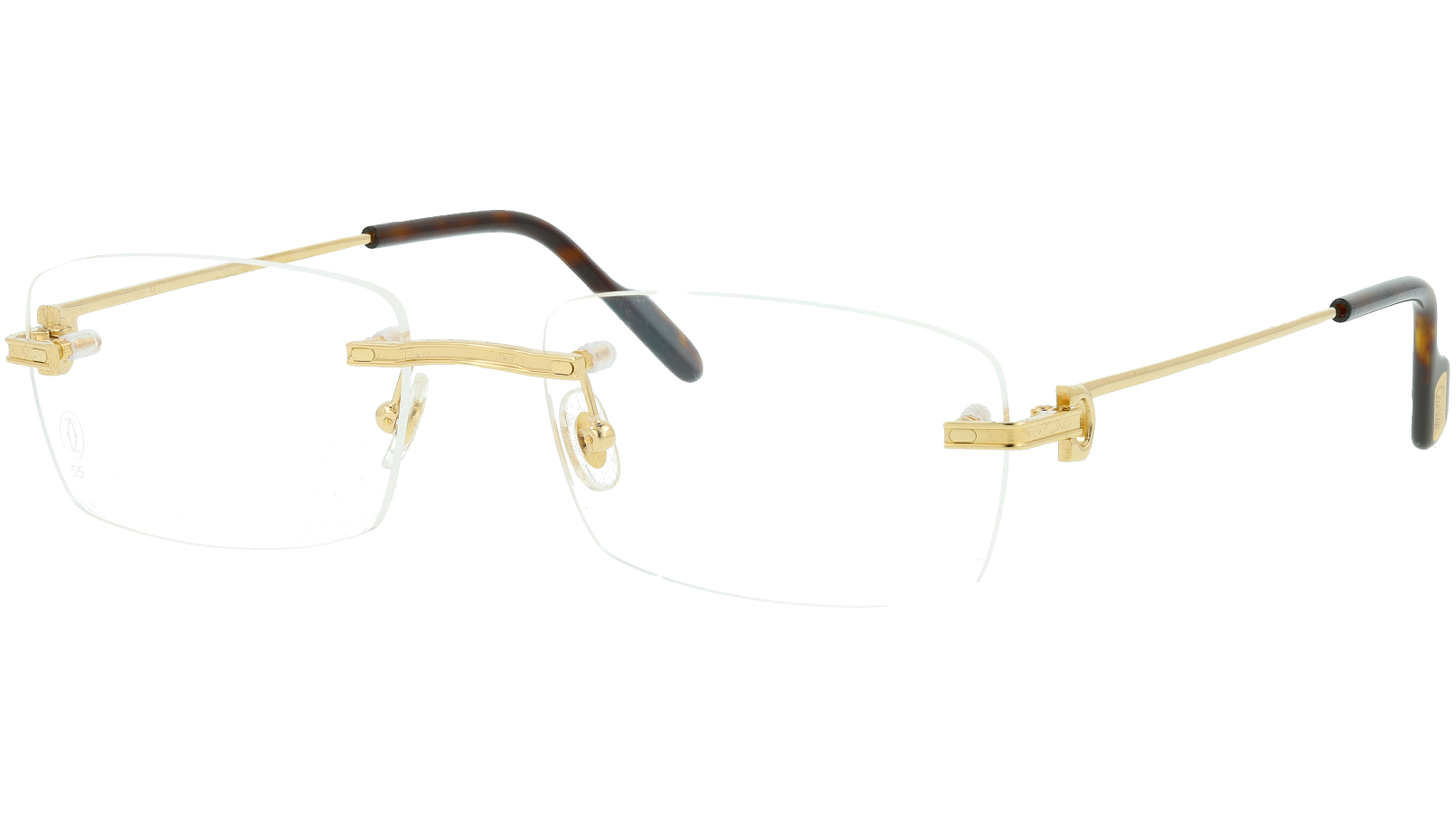 Cartier CT0259O 002 55 GOLD Glasses