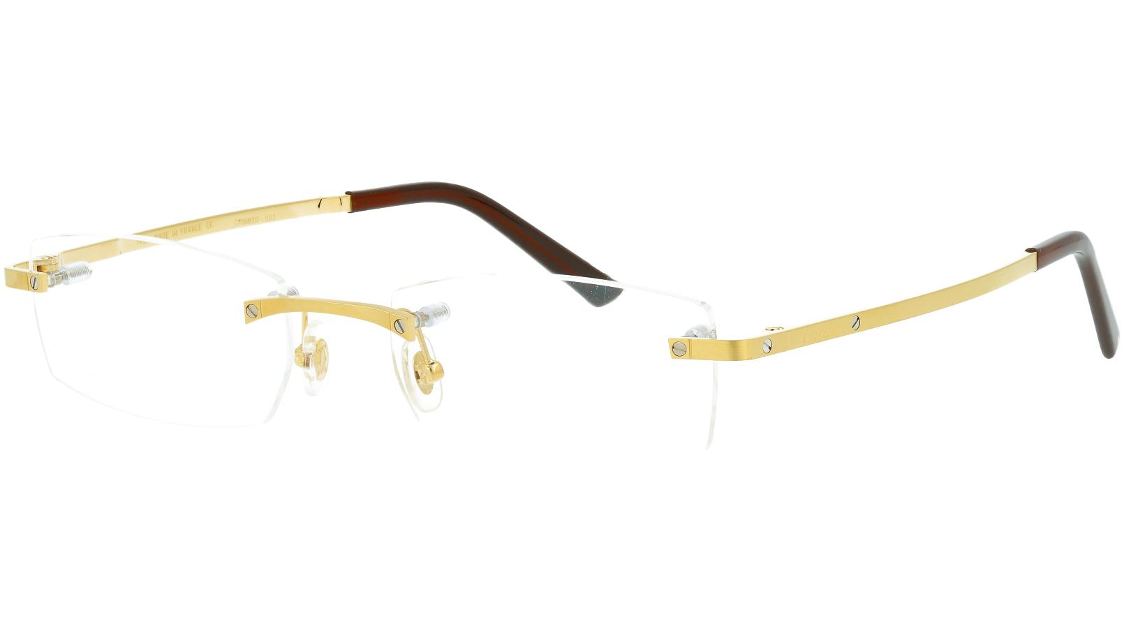 Cartier CT0087O 003 53 GOLD Glasses