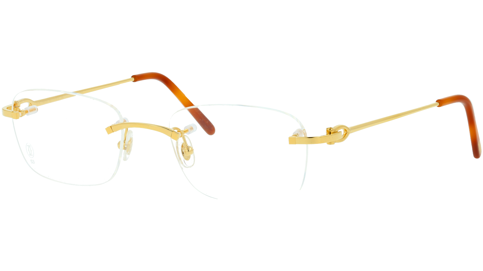 Cartier CT0050O 001 53 GOLD Glasses
