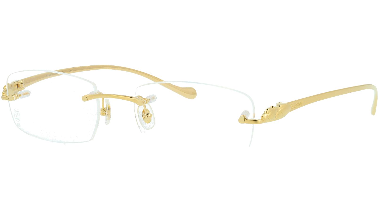 Cartier CT0061O 002 53 GOLD Glasses