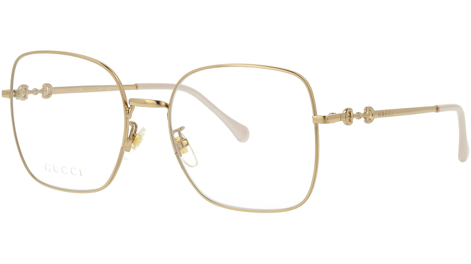 Gucci GG0883OA 001 55 Gold Square Glasses