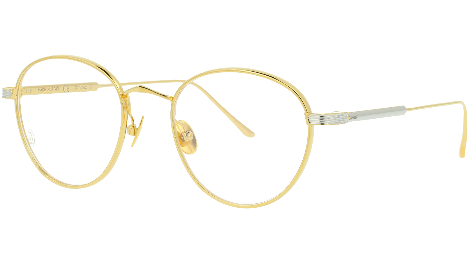 Cartier CT0016O 001 51 Gold Glasses