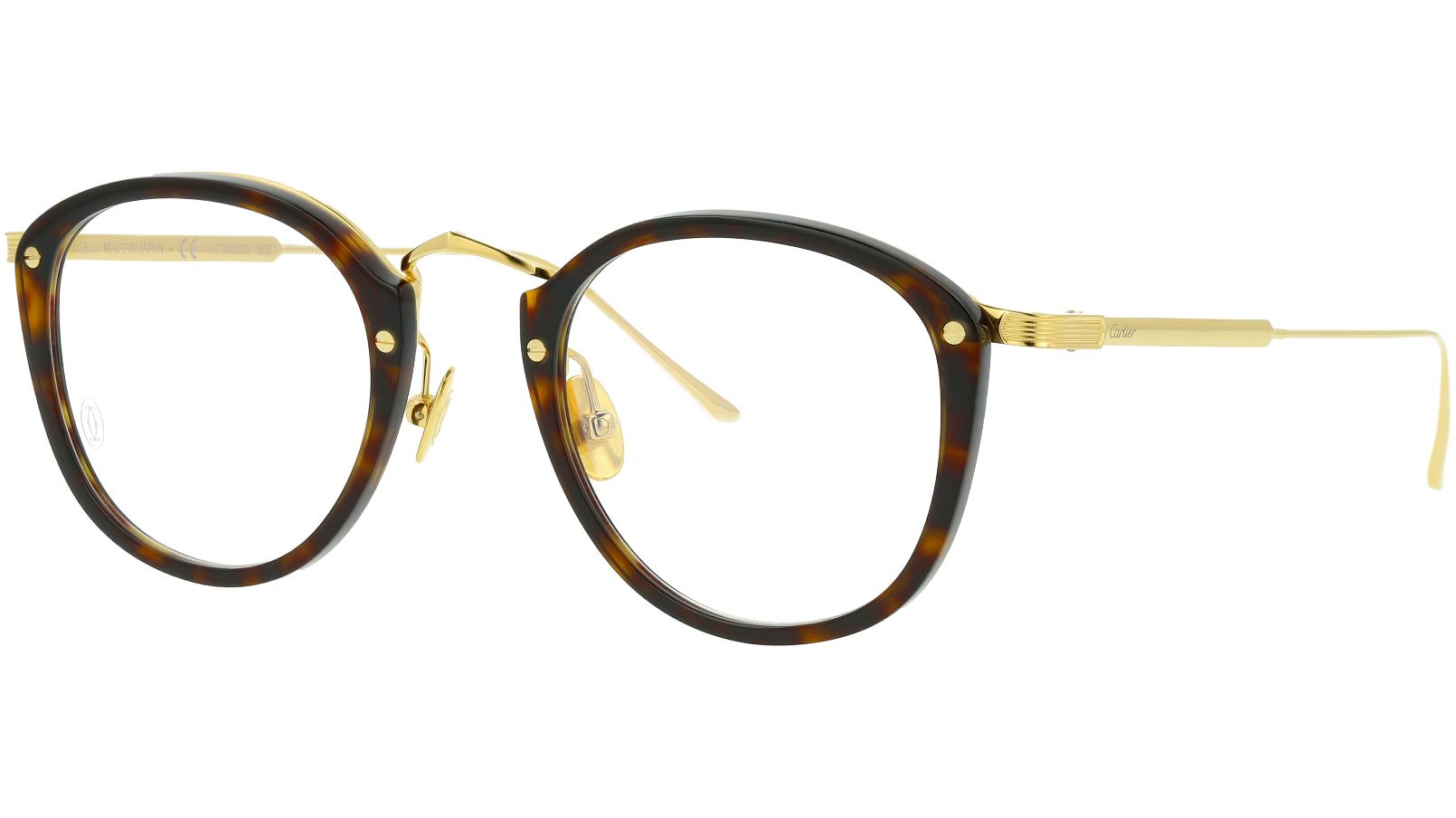 Cartier CT0020O 005 49 Avana Glasses