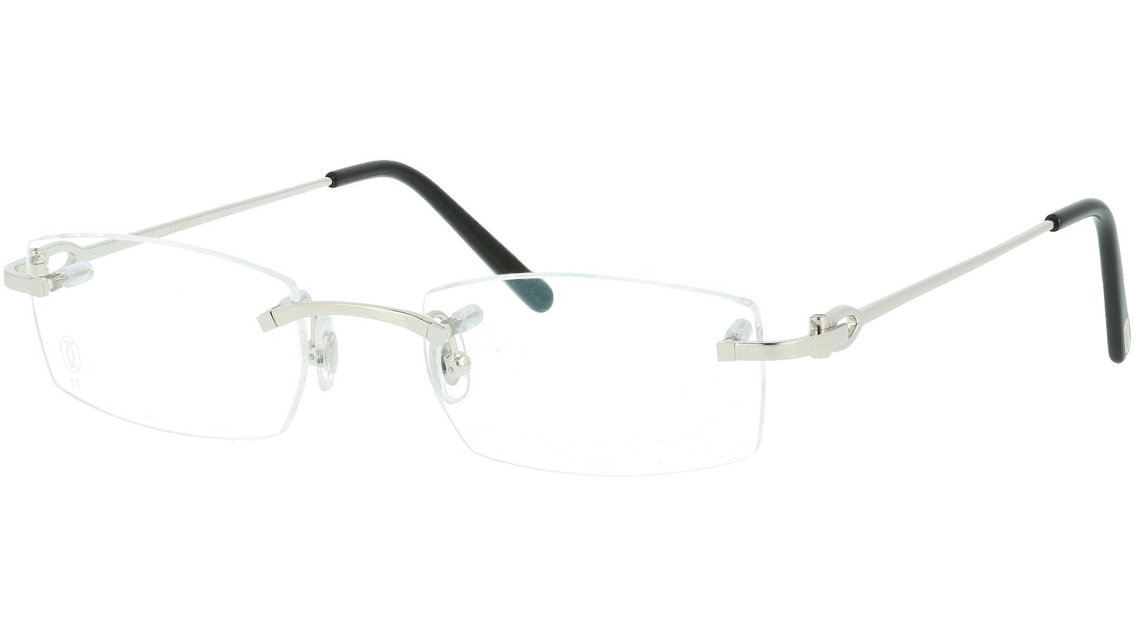 Cartier CT0045O 001 51 Silver Glasses