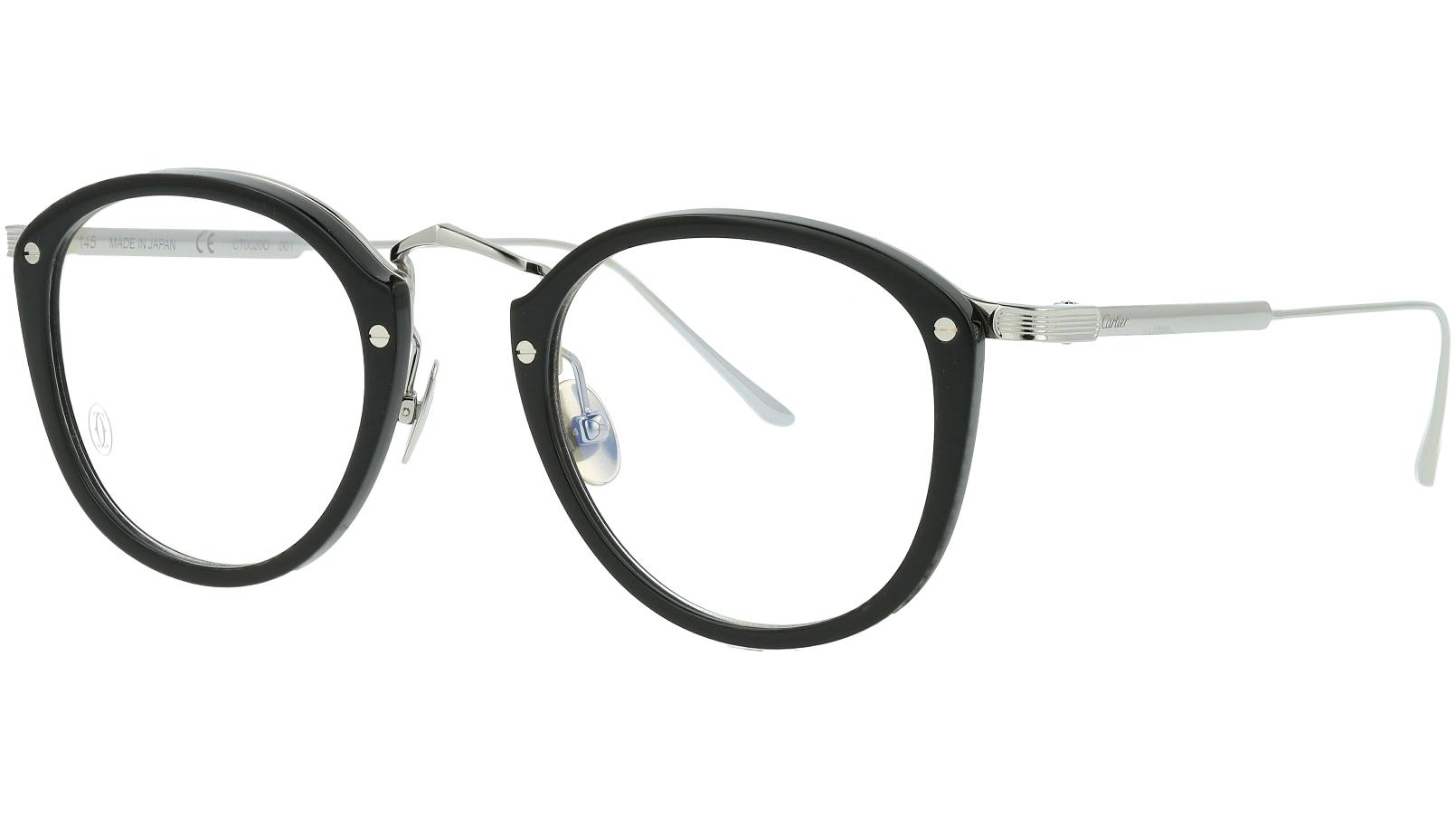 Cartier CT0020O 001 47 Black Glasses