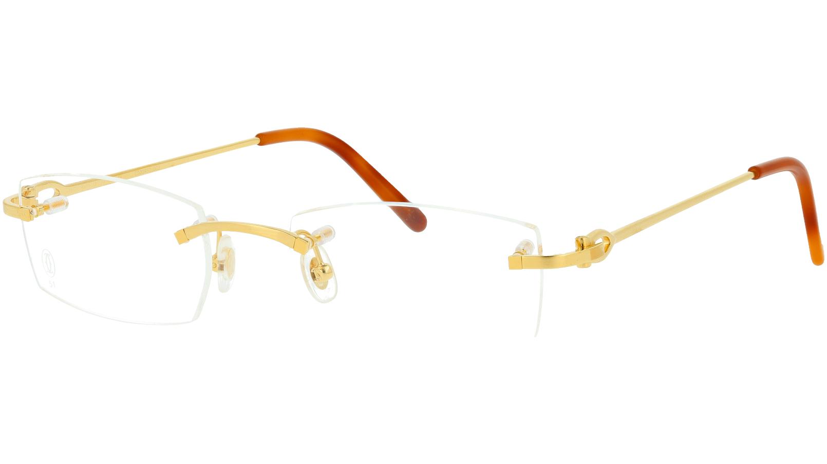 Cartier CT0045O 002 51 Gold Glasses