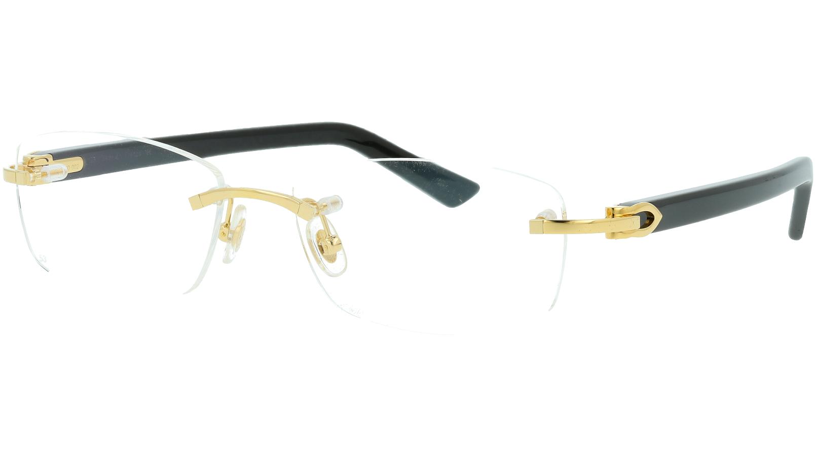 Cartier CT0048O 002 53 Gold Glasses