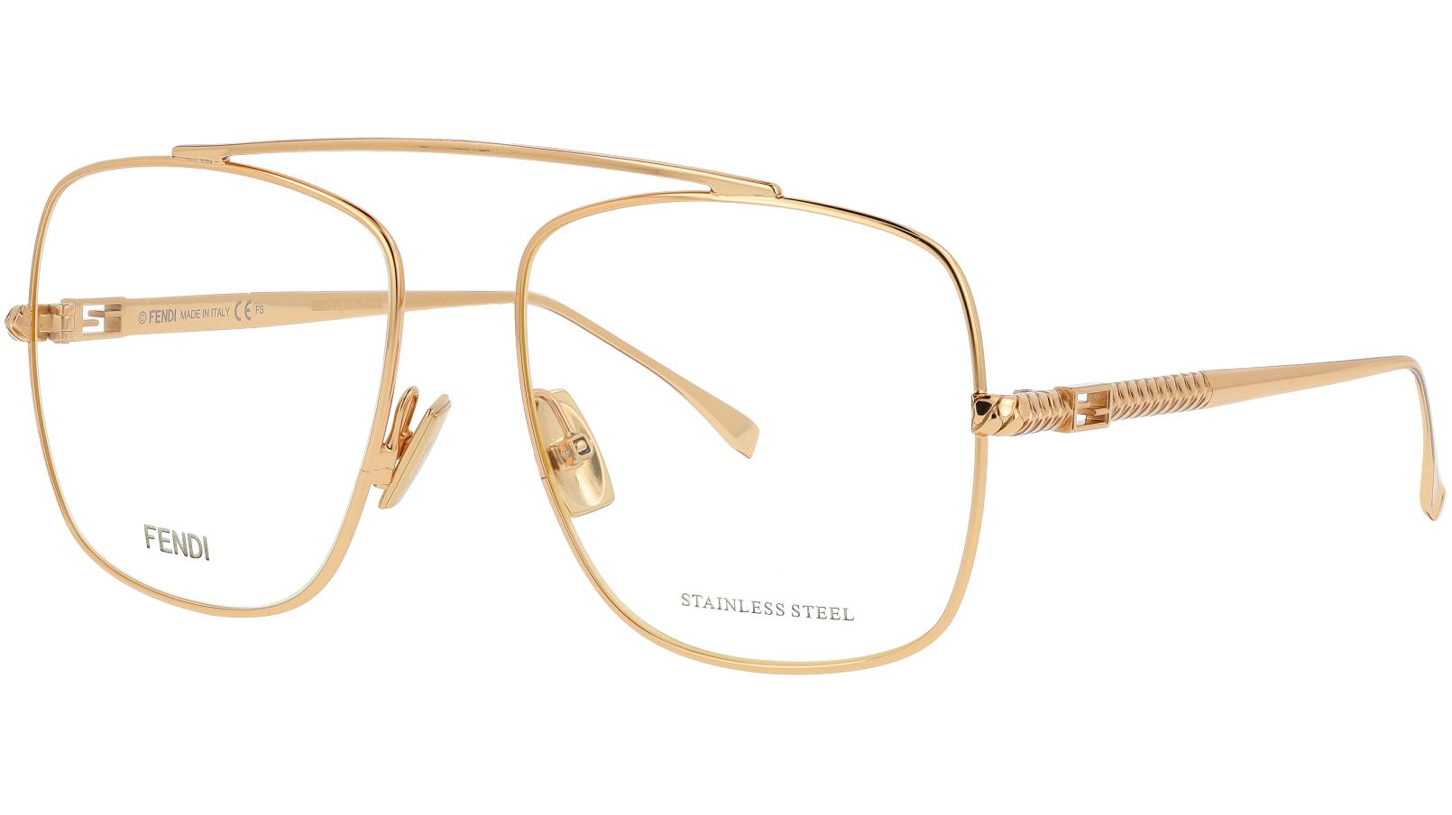Fendi FF0445 DDB 57 GOLD Glasses