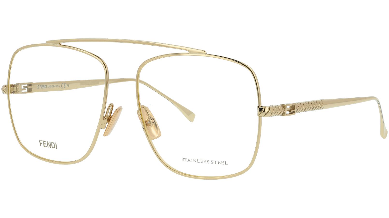 Fendi FF0445 J5G 57 GOLD Glasses