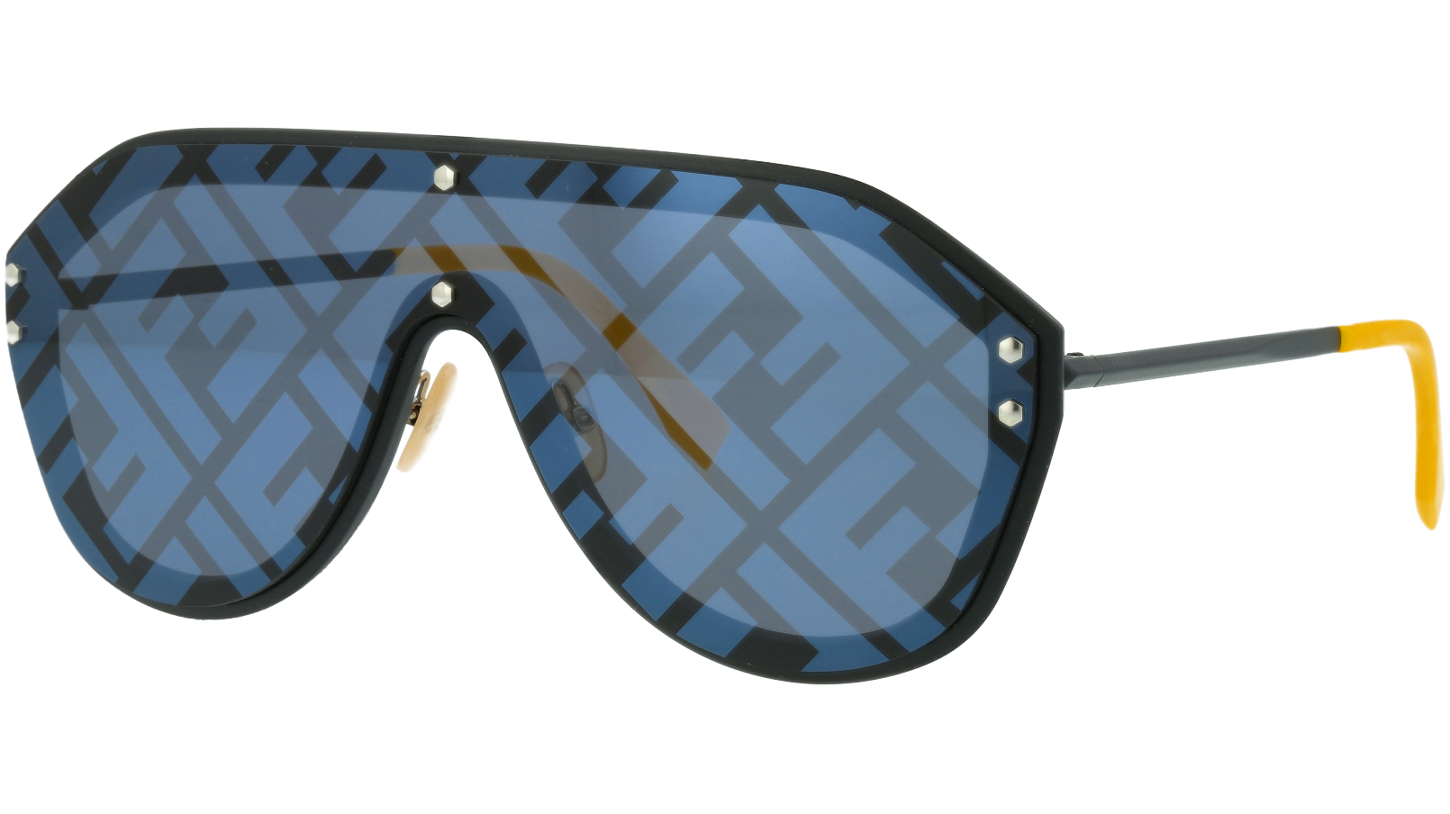 FENDI FFM0039/G/S 807XR 99 Black Shield Sunglasses