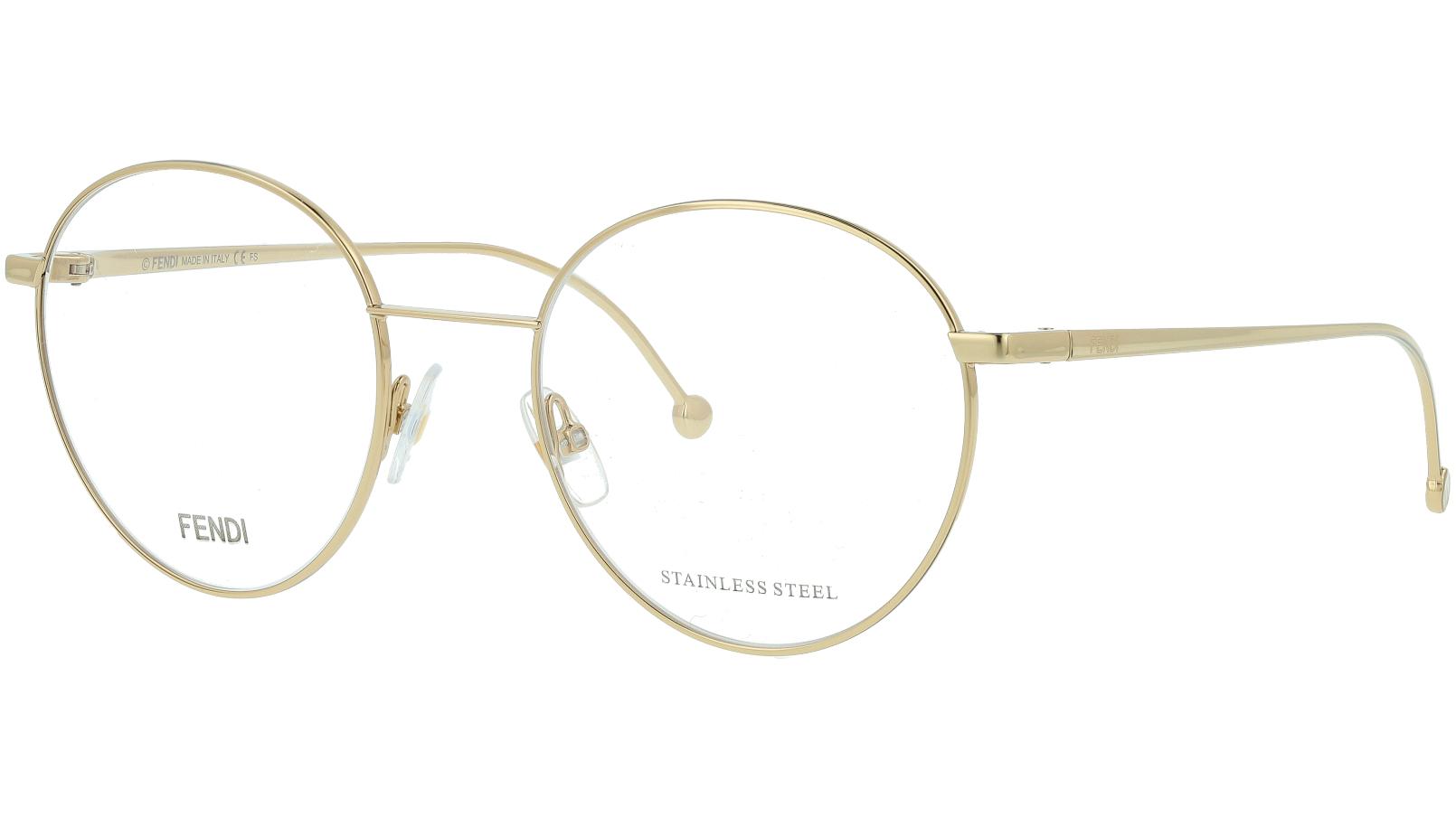 Fendi FF0353 J5G 52 GOLD Glasses