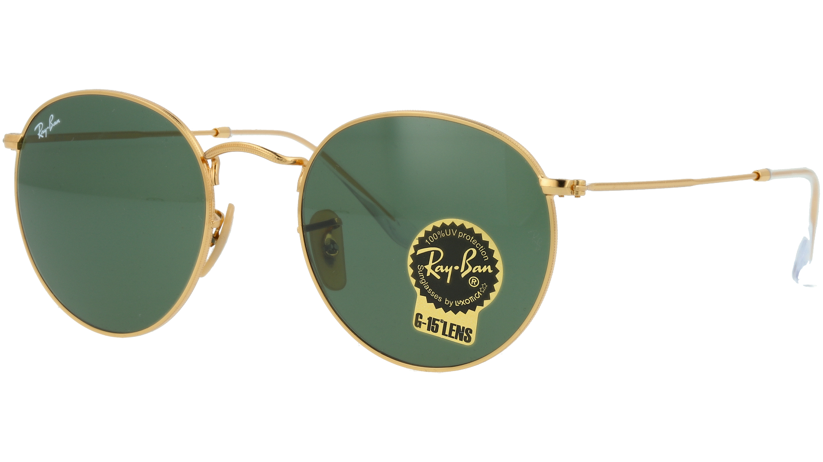 Ray-Ban RB3447 001 53 GOLD Sunglasses