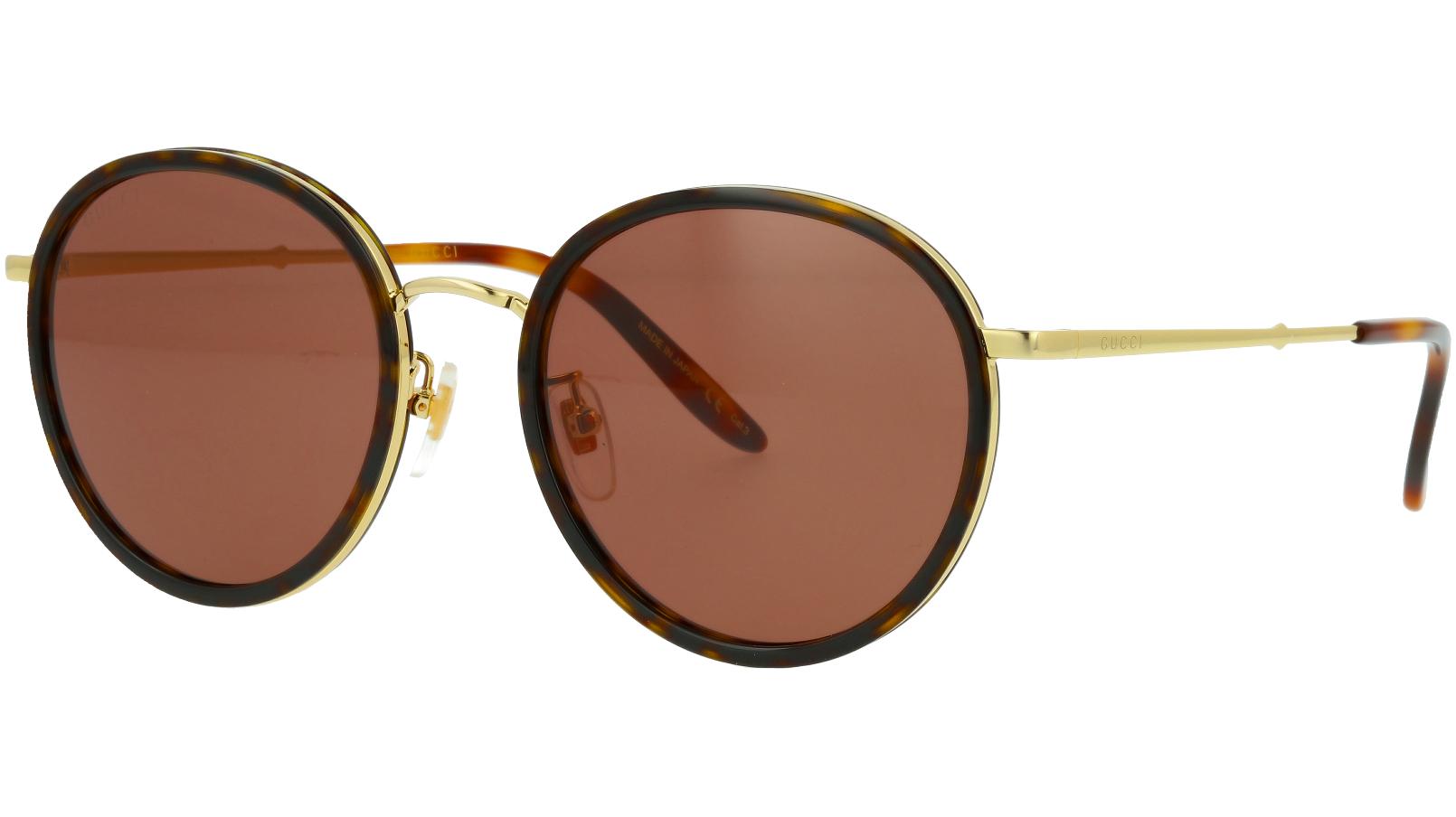 Gucci GG0677SK 002 55 Havana Round Sunglasses