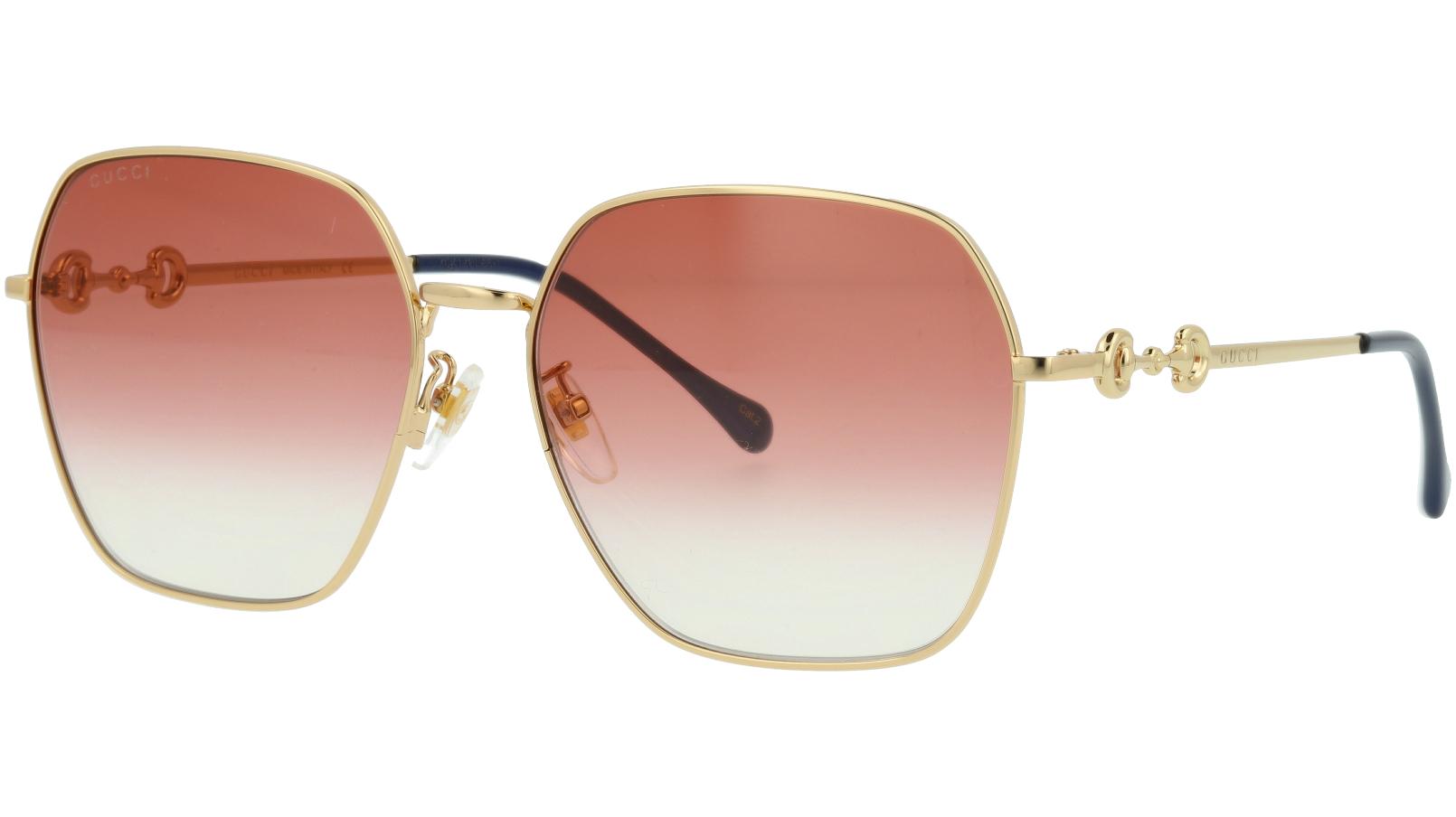Gucci GG0882SA 003 60 Gold Square Sunglasses