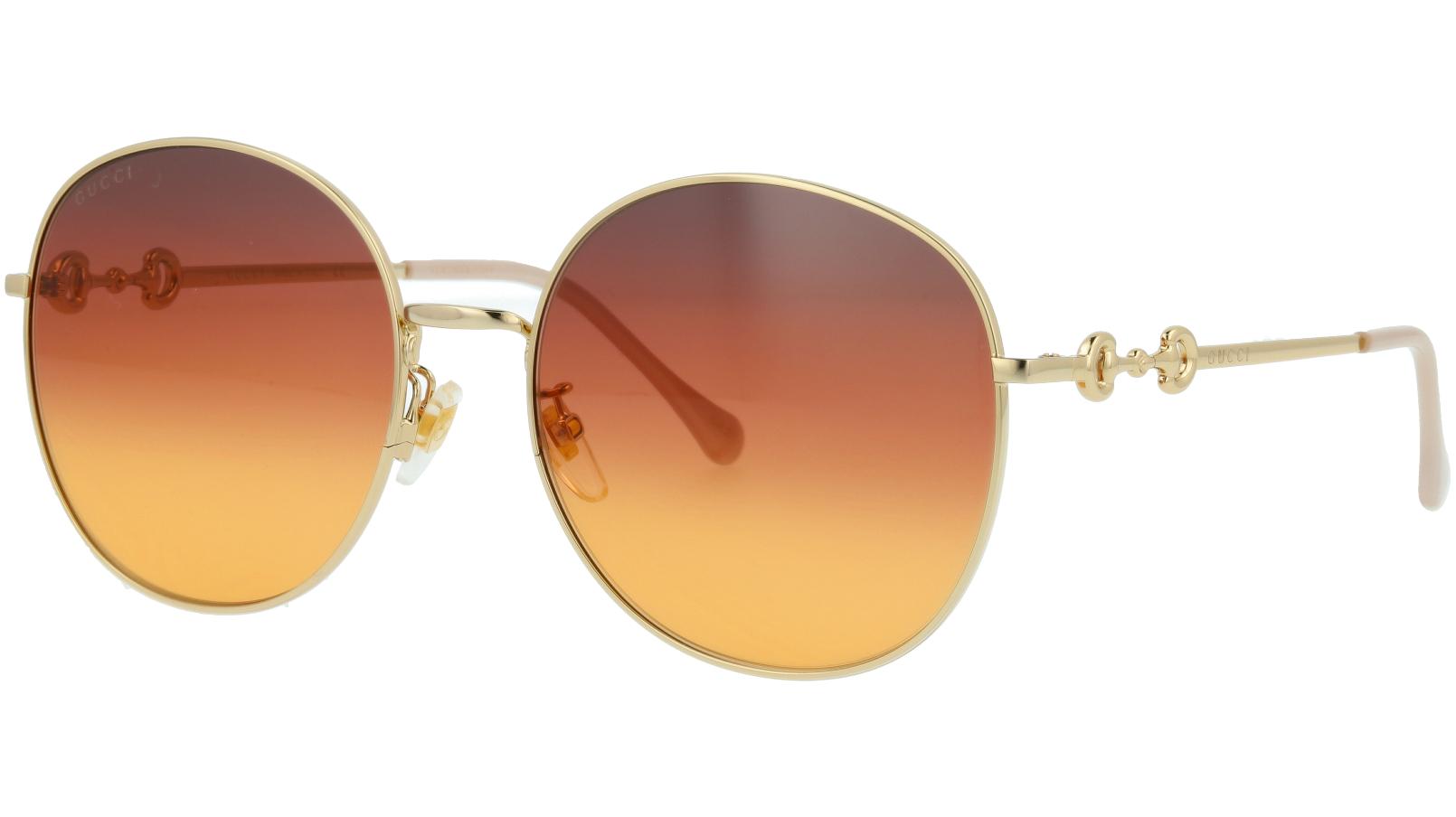 Gucci GG0881SA 004 59 Gold Round Sunglasses