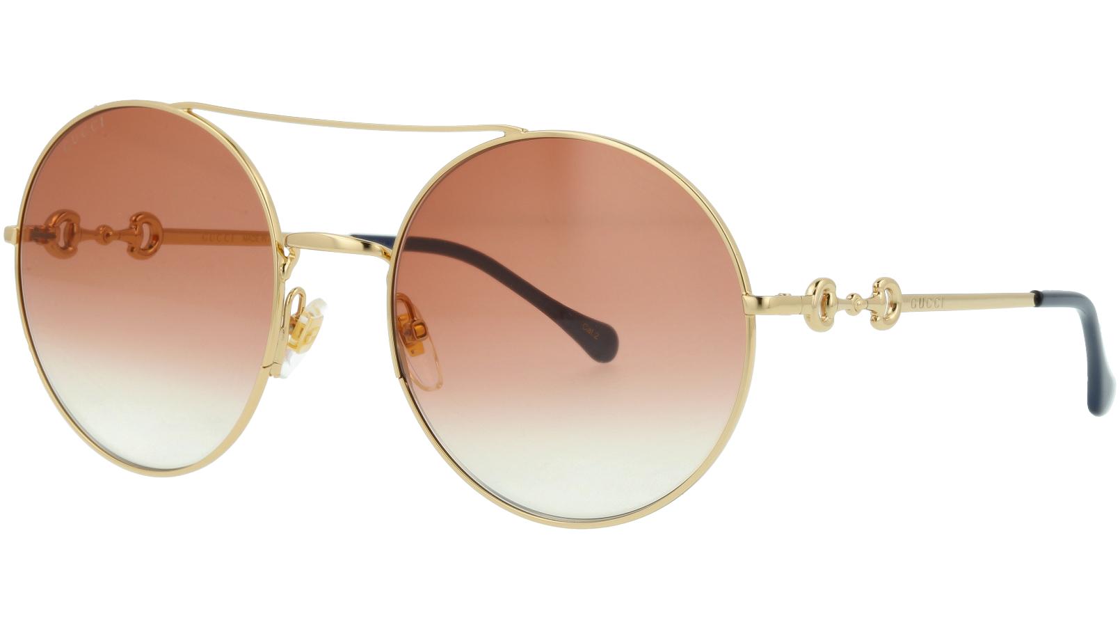 Gucci GG0878S 003 59 Gold Round Sunglasses