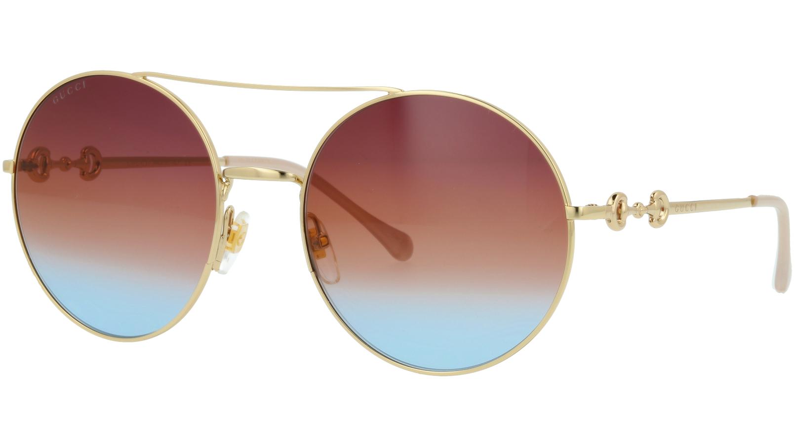 Gucci GG0878S 004 59 Gold Round Sunglasses