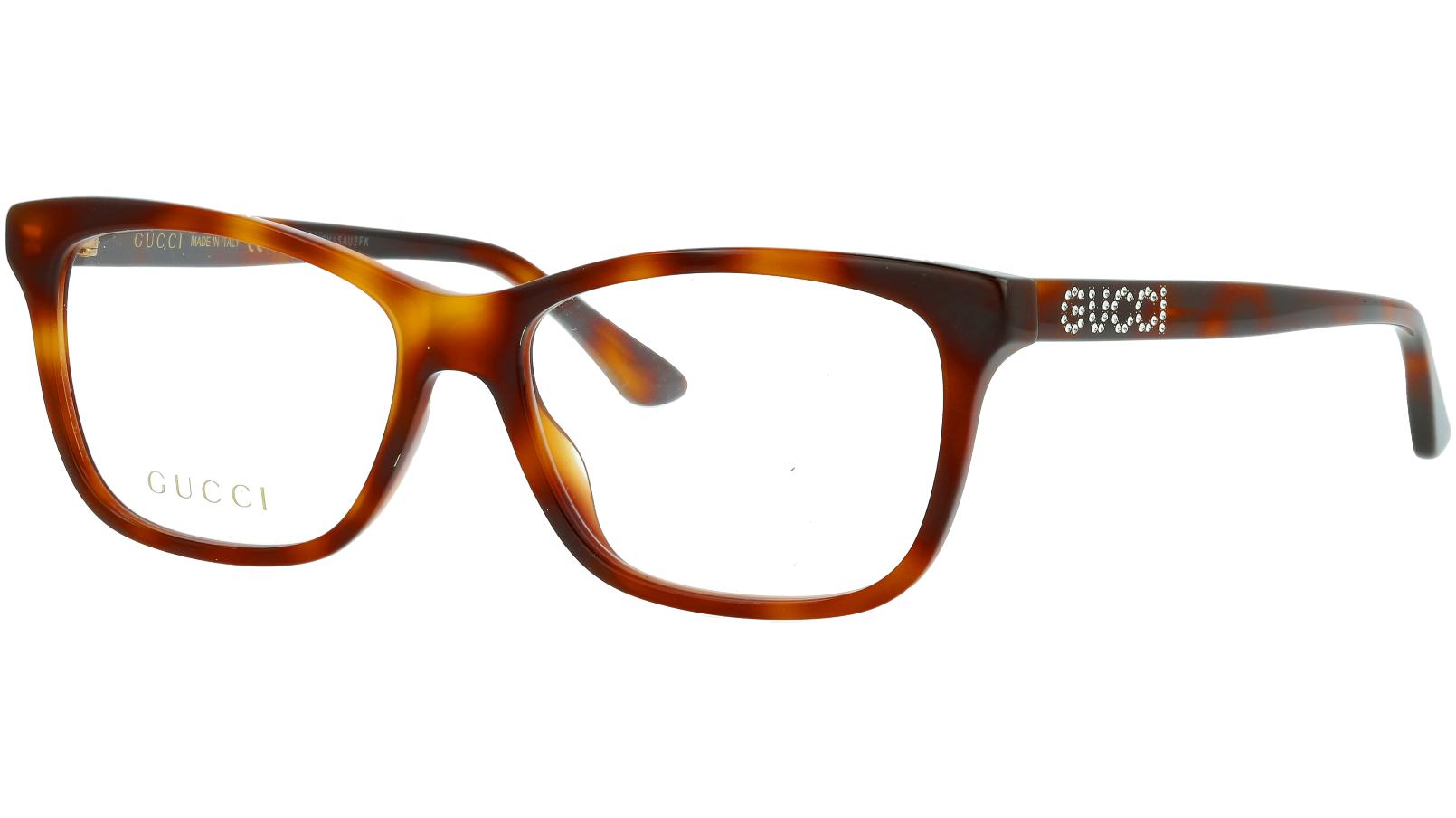 Gucci GG0731O 002 53 HAVANA Glasses
