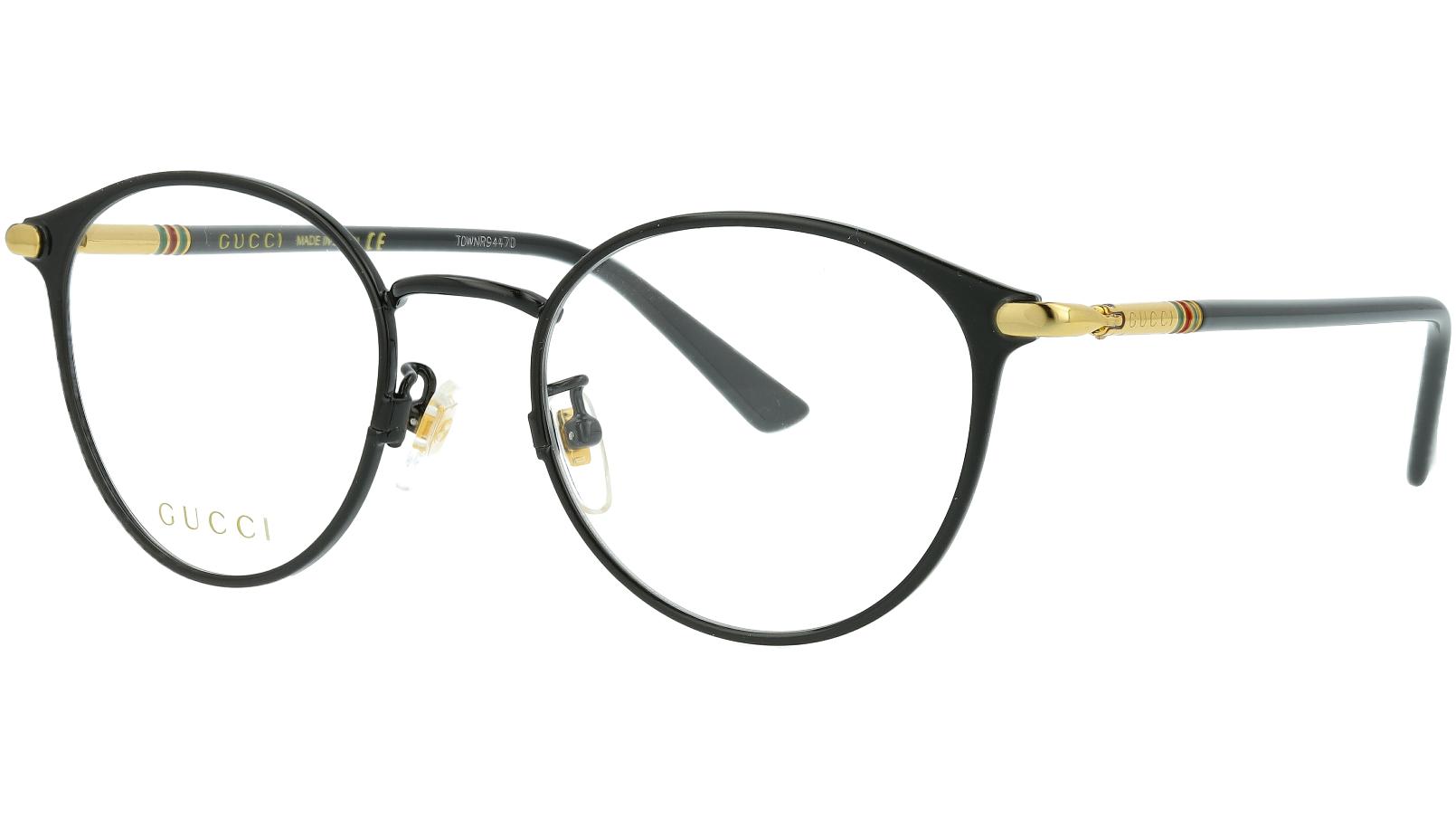 Gucci GG0611OK 001 51 Black Round Glasses