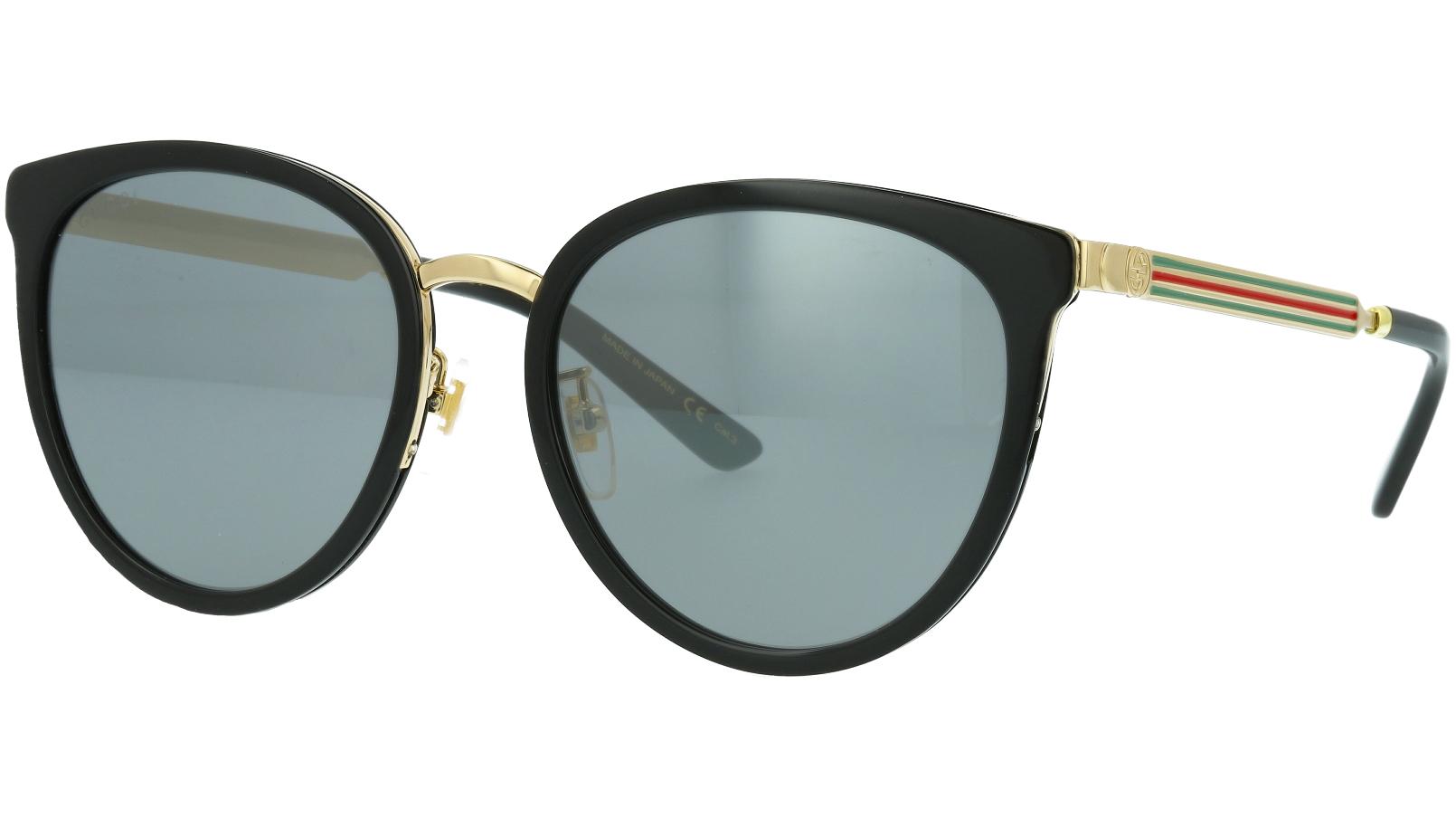 Gucci GG0077SK 006 56 BLACK Sunglasses