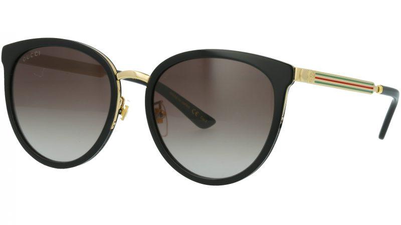 Gucci GG0077SK 001 56 BLCK Sunglasses