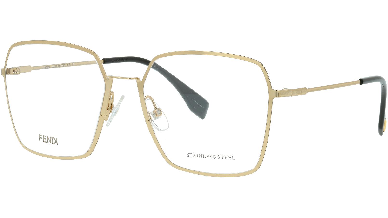 Fendi FF0333 J5G 55 GOLD Glasses