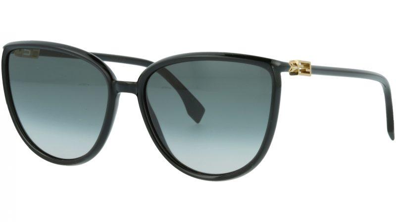 Fendi FF0459/S 8079O 59 BLACK Sunglasses