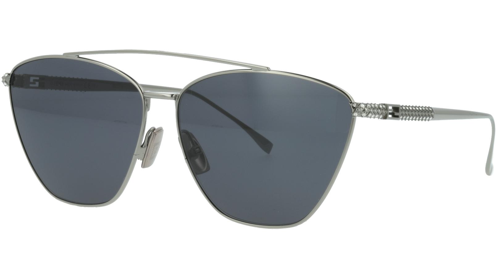 Fendi FF0438/S 6LBIR 64 RUTHENIUM Sunglasses