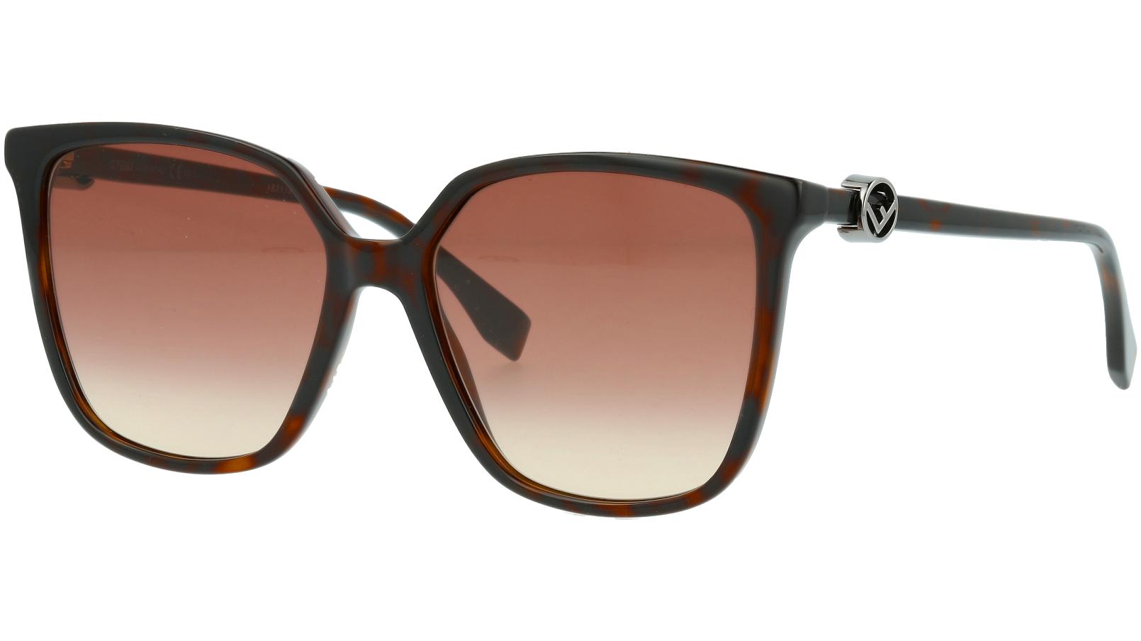 Fendi FF0318/S 086HA 57 HAVANA Sunglasses