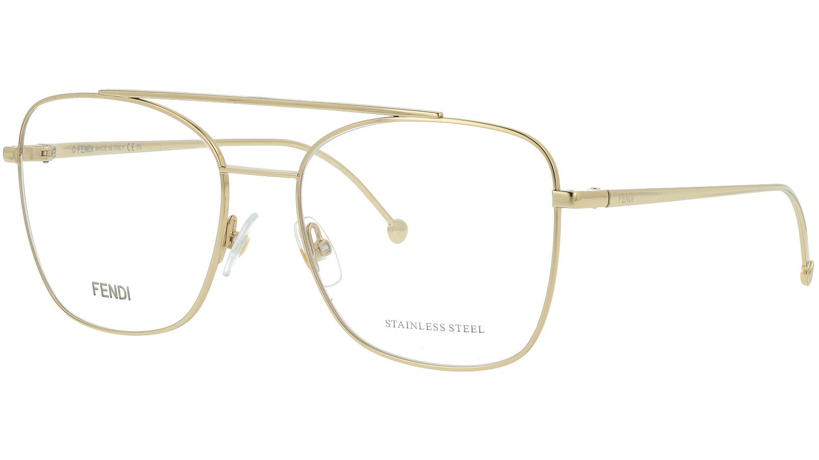 Fendi FF0354 J5G 55 GOLD Glasses