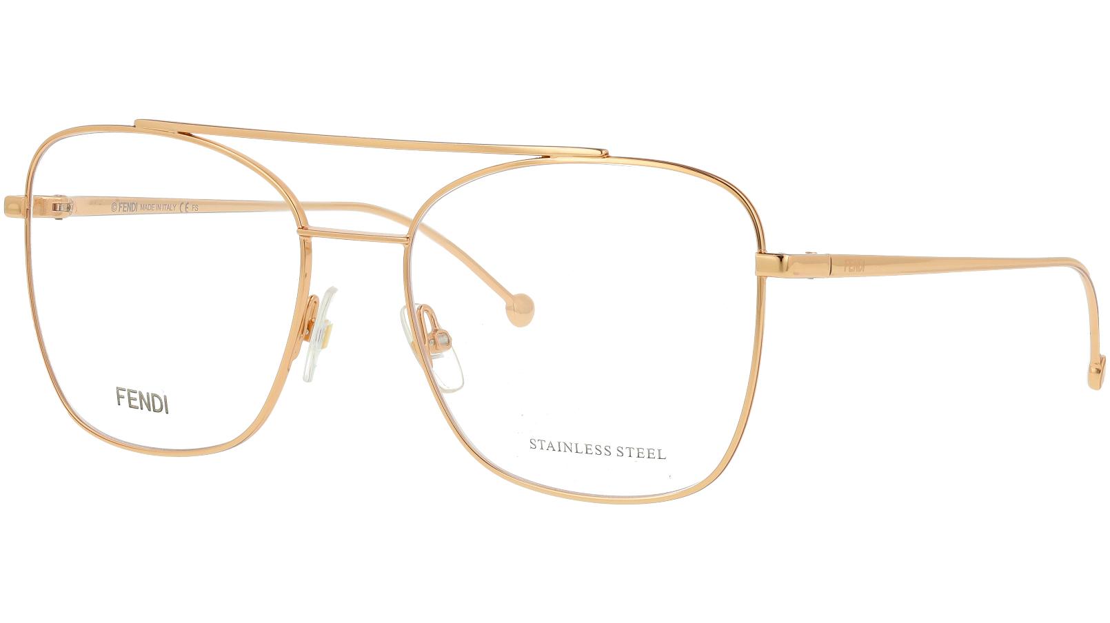 Fendi FF0354 DDB 55 GOLD Glasses