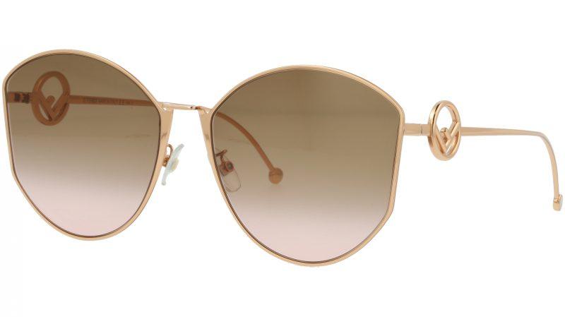 Fendi FF0355/F/S DDBM2 63 GOLD Sunglasses