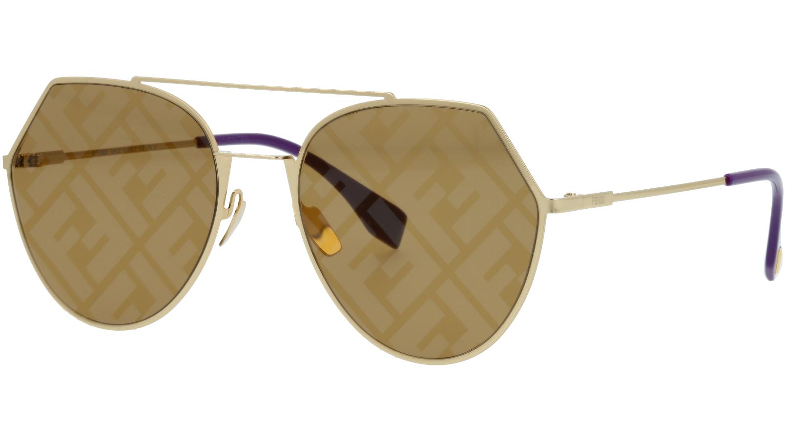 Fendi FF0194/S S9E7Y 55 GOLD Sunglasses