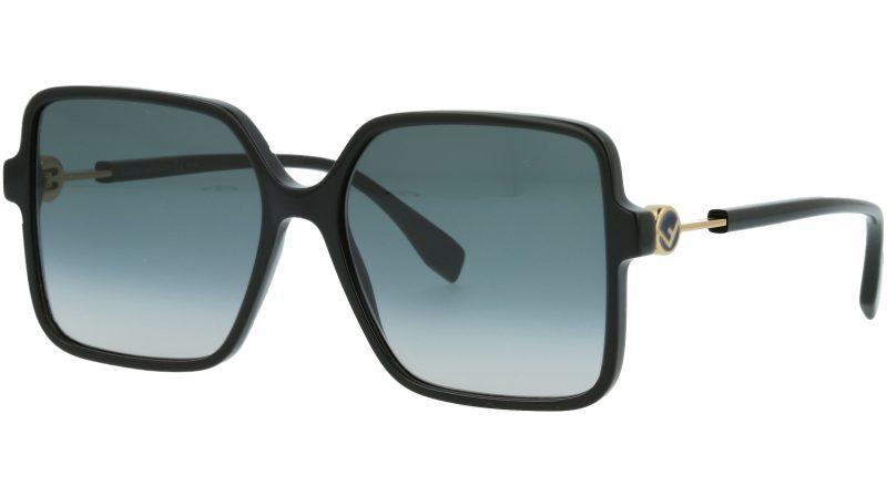 Fendi FF0411/S 8079O 58 BLACK Sunglasses