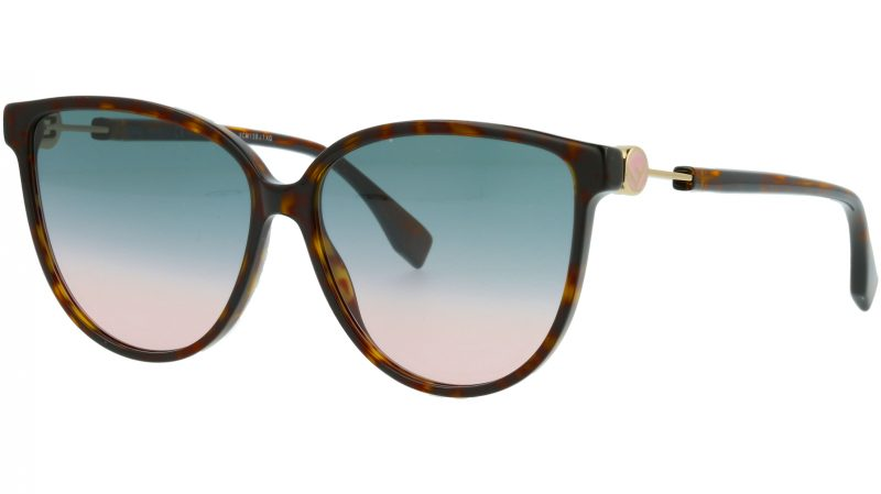 Fendi FF0345/S 086JP 59 HAVANA Sunglasses