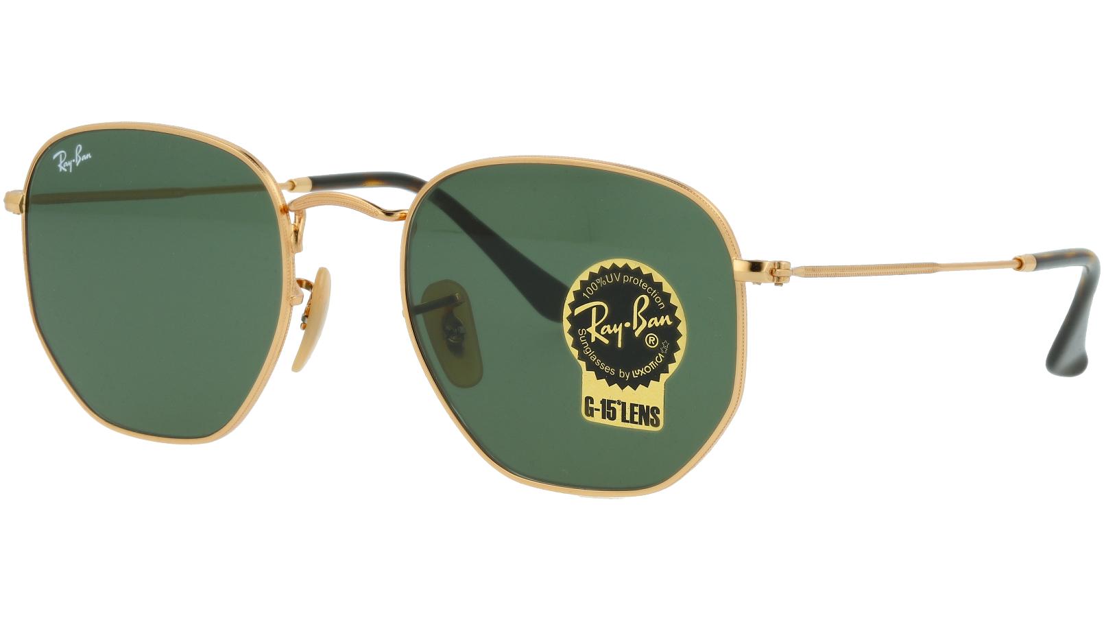 Ray-Ban RB3548N 001 54 Arista Hexagonal Sunglasses
