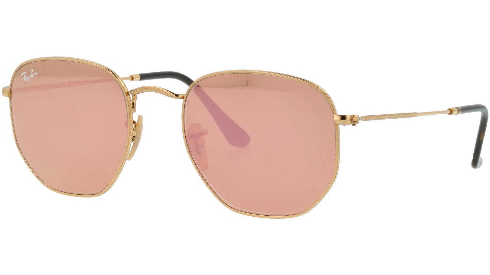 Ray-Ban RB3548N 001/Z2 54 Arista Hexagonal Sunglasses
