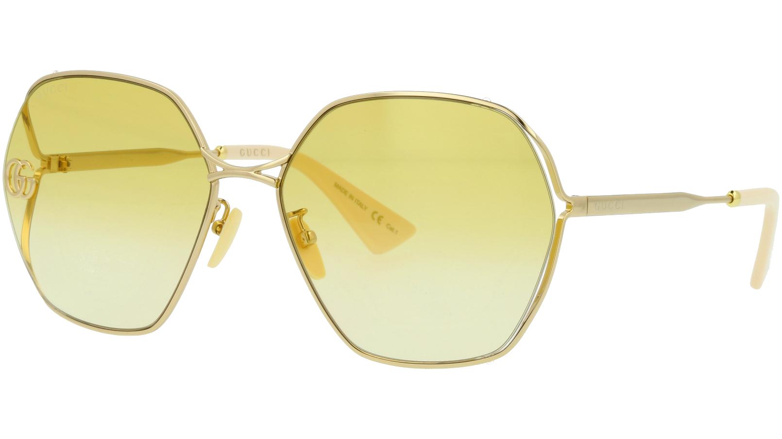 Gucci GG0818SA 004 63 GOLD Sunglasses