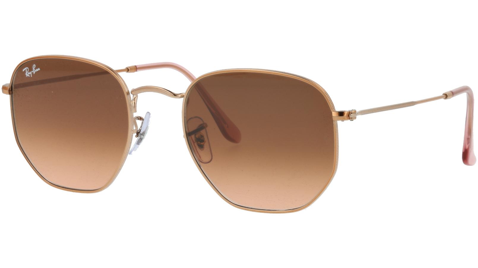 Ray-Ban RB3548N 9069A5 Copper Hexagonal Sunglasses