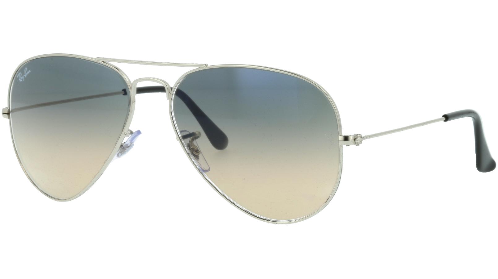 Ray-Ban RB3025 003/32 58 Silver Pilot Sunglasses