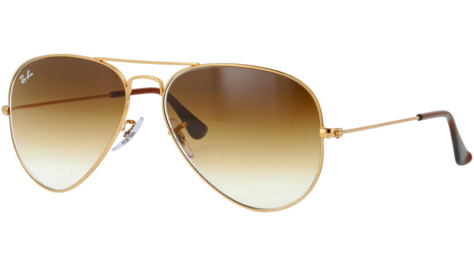 Ray-Ban RB3025 001/51 58 Arista Pilot Sunglasses