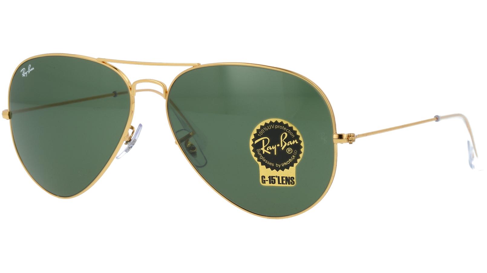 Ray-Ban RB3025 001 62 Arista Pilot Sunglasses