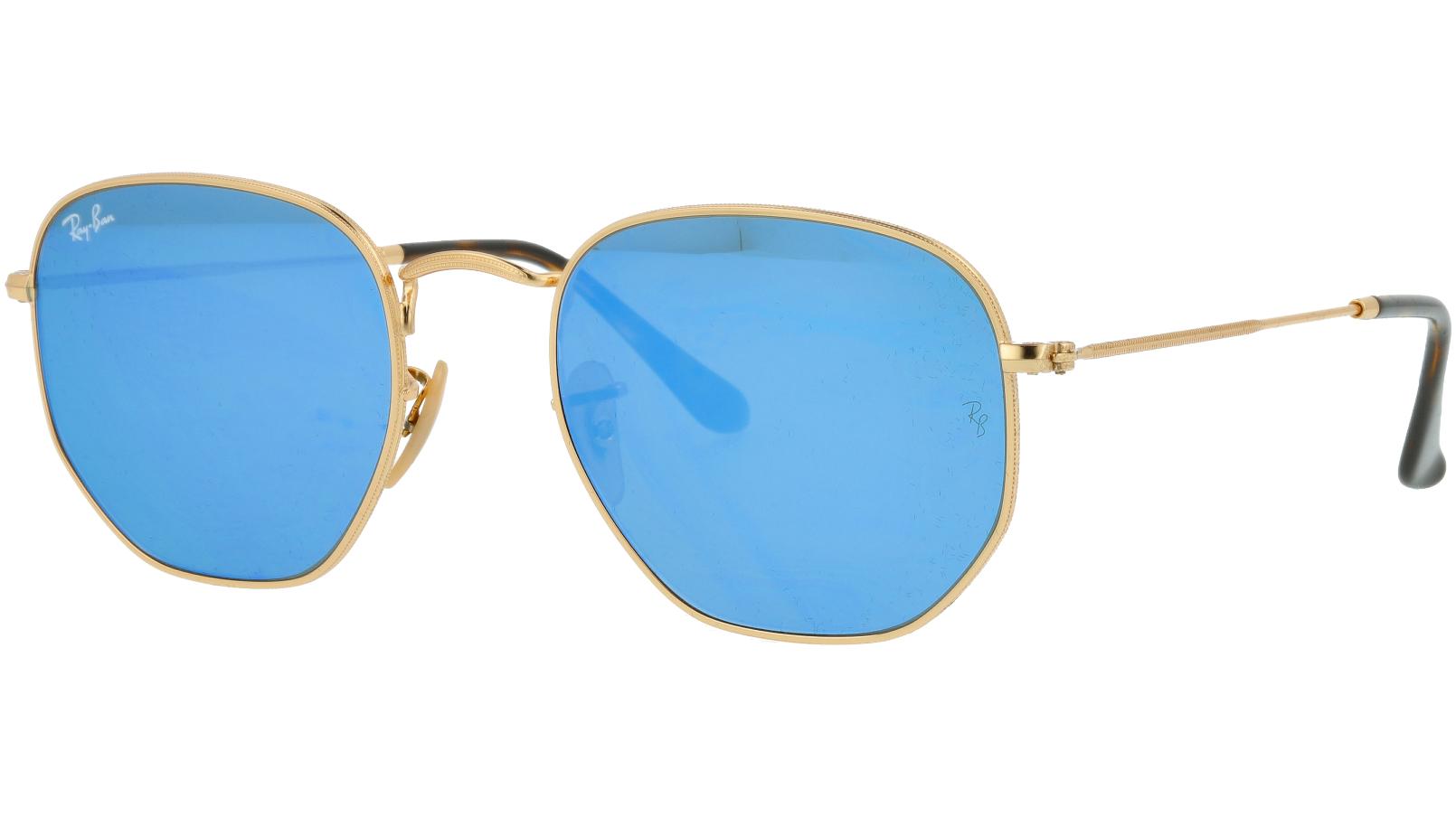 Ray-Ban RB3548N 001/9O Arista Hexagonal Sunglasses