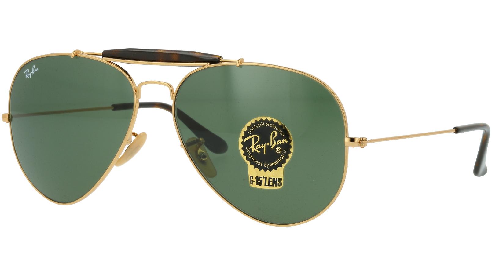 Ray-Ban RB3029 L2112 62 Arista Aviator Sunglasses