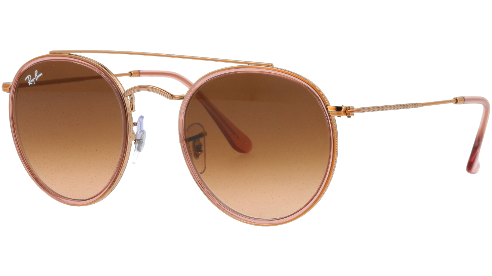 Ray-Ban RB3647N 9069A5 Copper Round Sunglasses