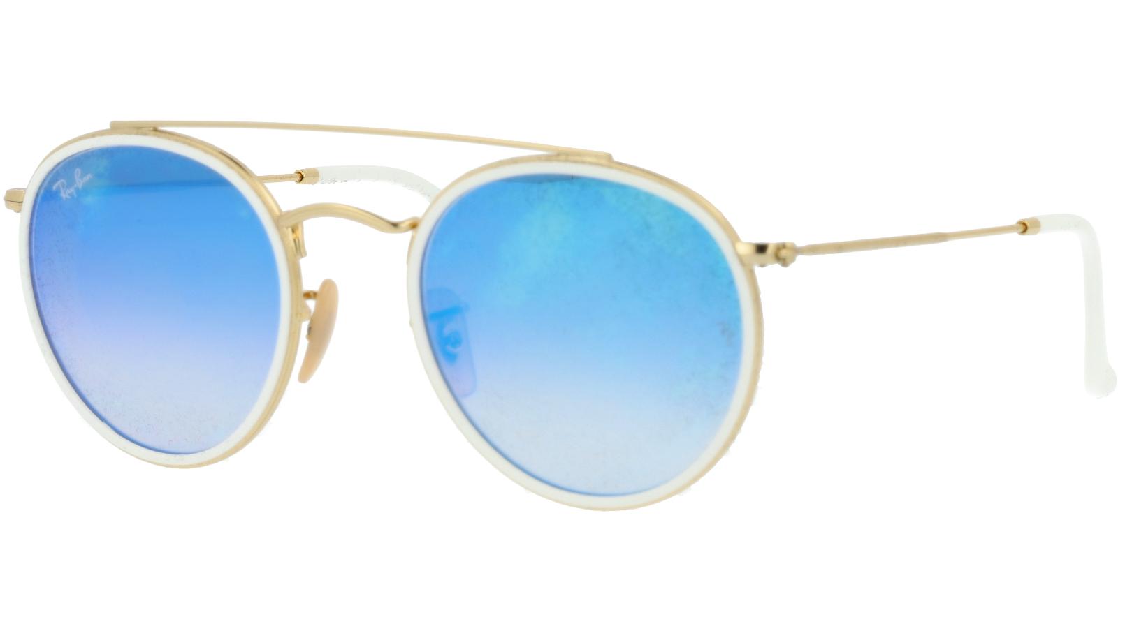 Ray-Ban RB3647N 001/4O Arista Round Sunglasses